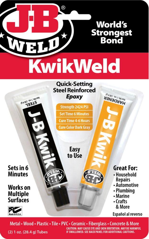Quick Set Formula Plastic Two Part Compound Ceramic J-B Kwik Weld for Steel