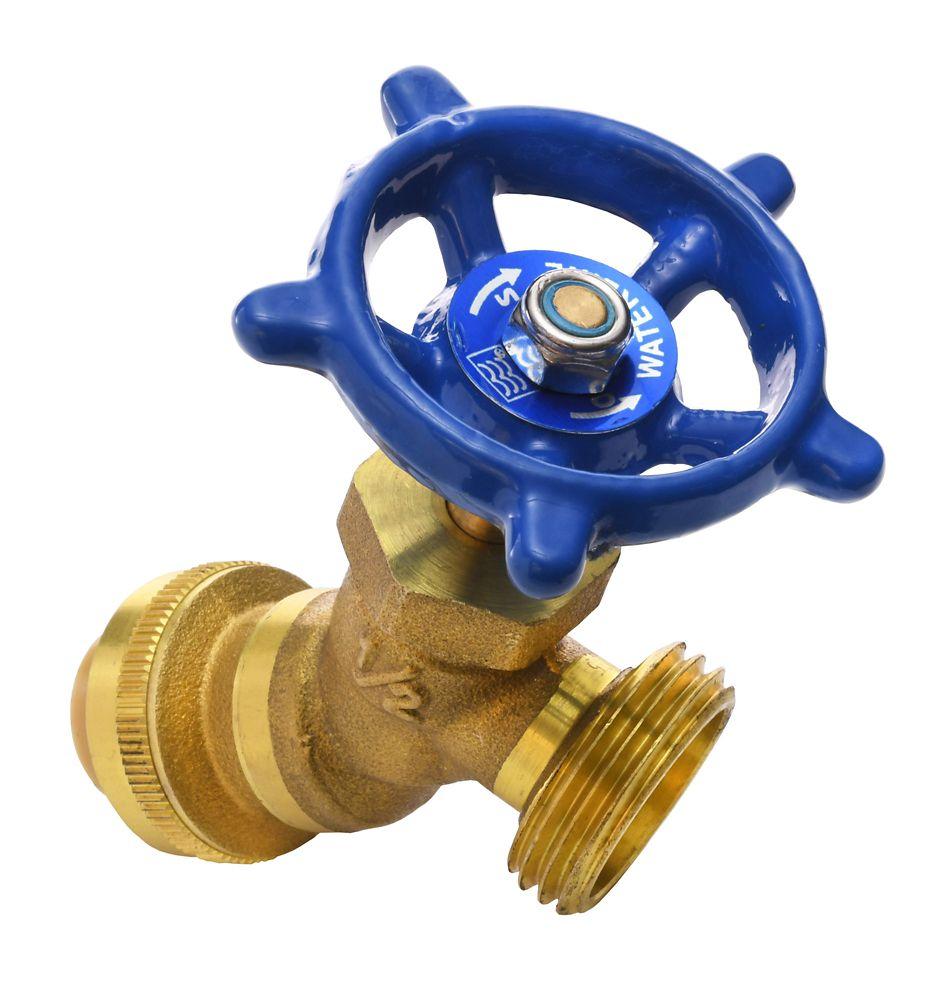 Brass Hose Boiler Drain 1/2 Inch x 3/4 Inch Male Hose Thread