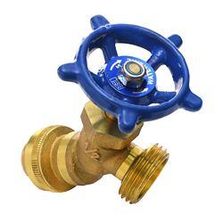 Push'N'Connect Brass Hose Boiler Drain 1/2 Inch x 3/4 Inch Male Hose Thread