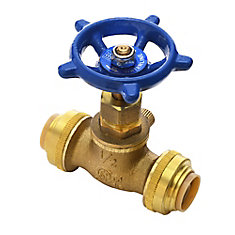 Brass Stop Valve with Waste 1/2 Inch