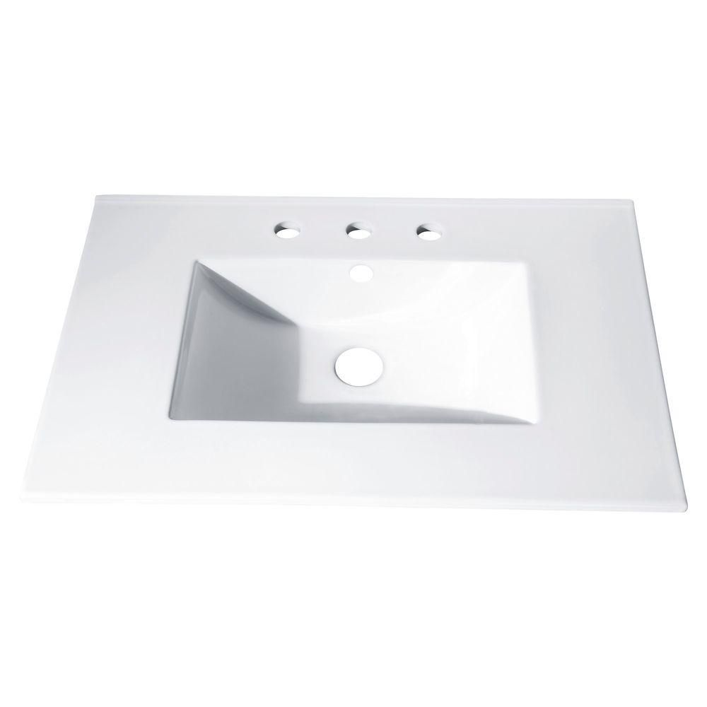37-Inch W Vitreous China Vanity Top with Integrated Bowl