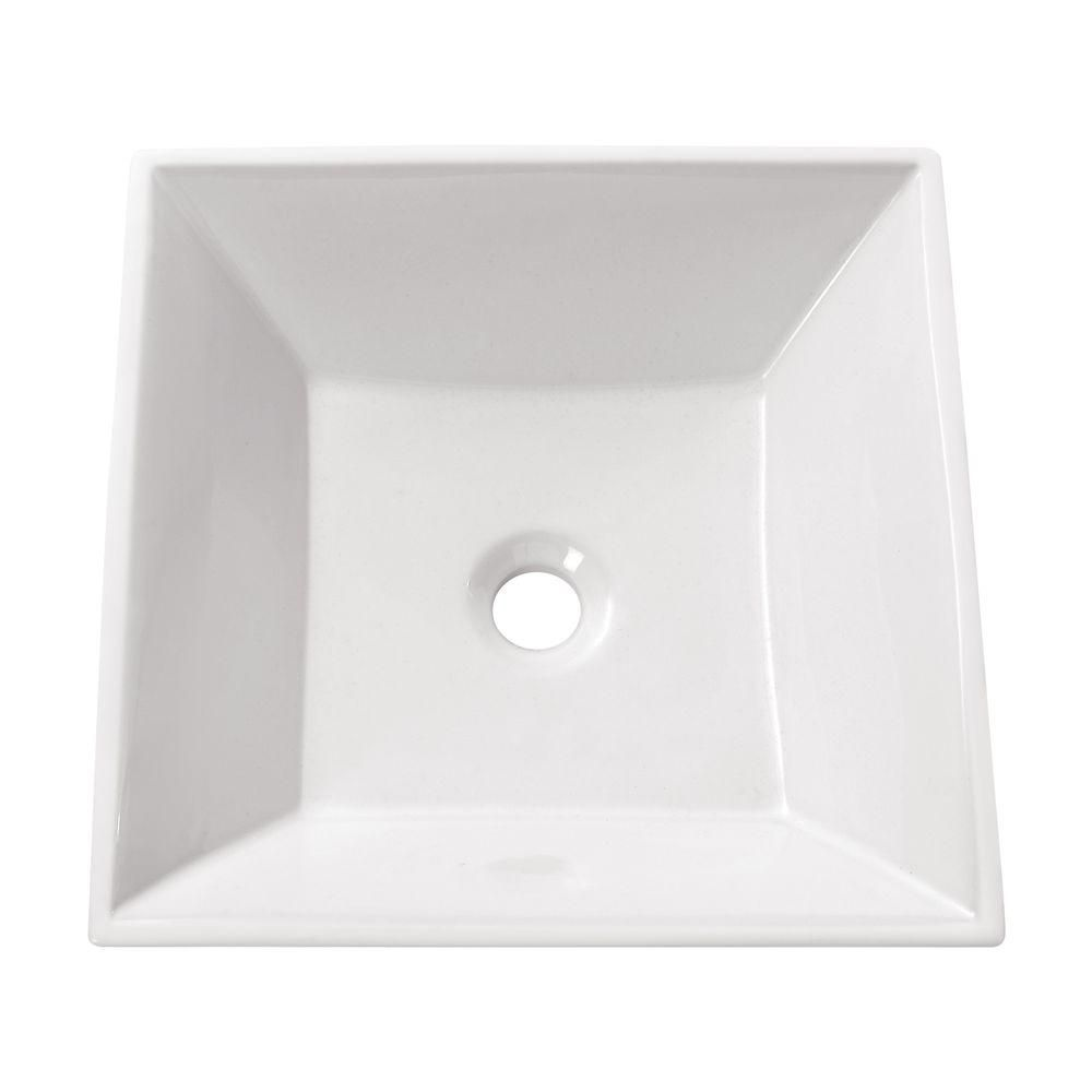 Avanity 16.50-inch x 4.50-inch x 16.50-inch Square Bathroom Sink