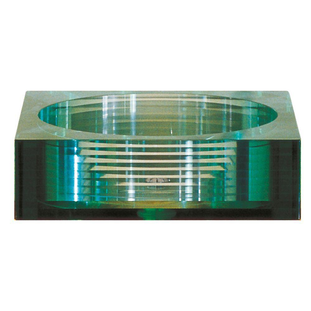 Square Tempered Segmented Glass Vessel