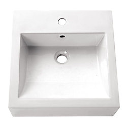 Avanity 18-inch Square Vitreous China Vessel Sink in White