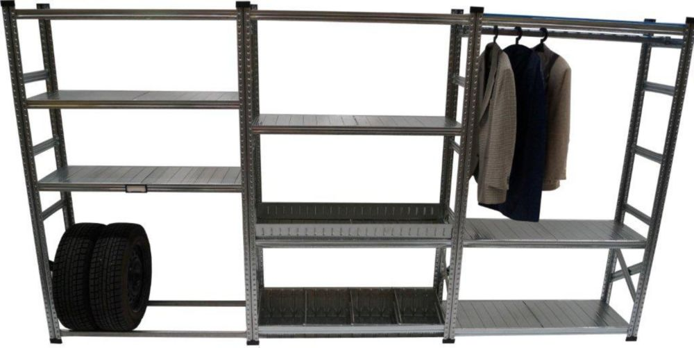 Metalsistem Heavy Duty Garage Shelving Kit With