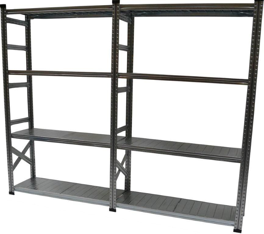 metalsistem heavy duty basic shelving kit with add on. Black Bedroom Furniture Sets. Home Design Ideas