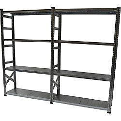 Metalsistem Heavy Duty 5-Shelf Basic Shelving Kit with Add On Shelf