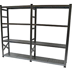Heavy Duty 5-Shelf Basic Shelving Kit with Add On Shelf