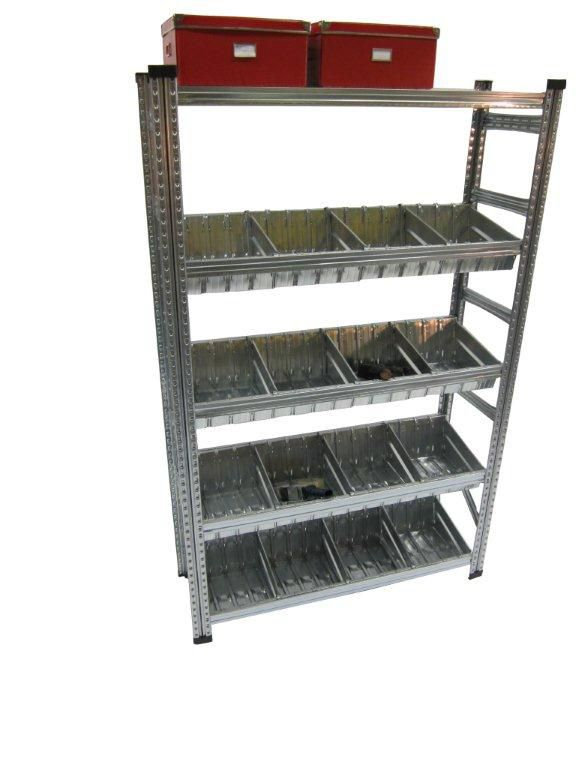 Heavy Duty Shelving Kit with Modular Container