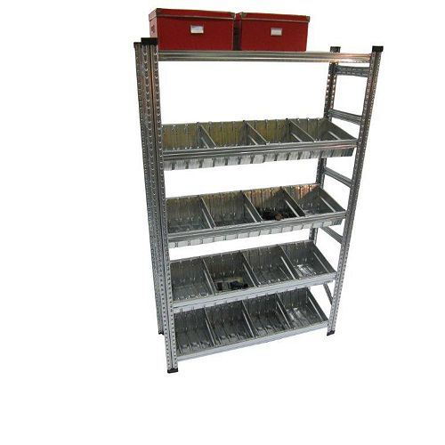 Metalsistem Heavy Duty Shelving Kit with Modular Container