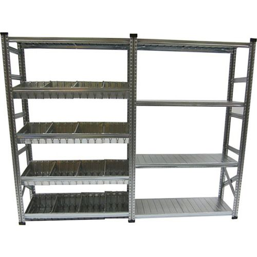 Metalsistem Heavy Duty Stater And Addon Shelving Kit with Modular Container