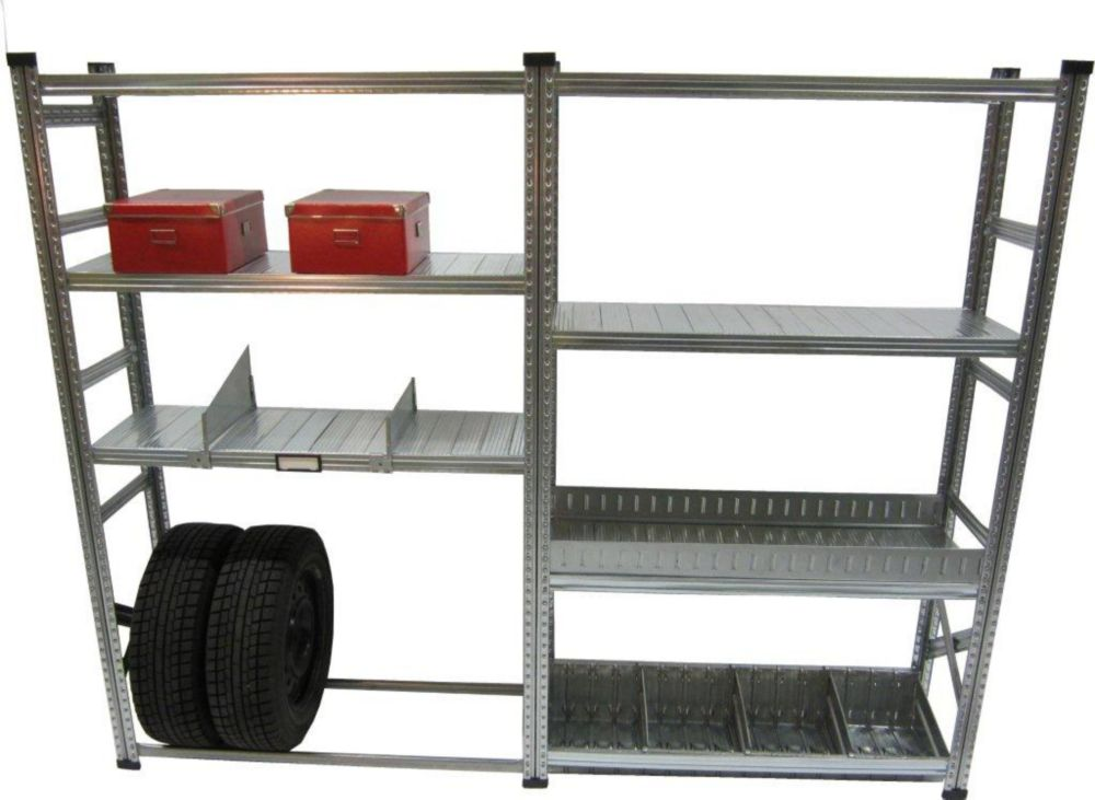 Heavy Duty Stater And Addon Shelving Kit with Accessories