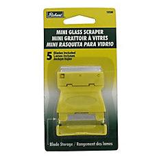 Mini Glass Scraper W/5 Blade Storage