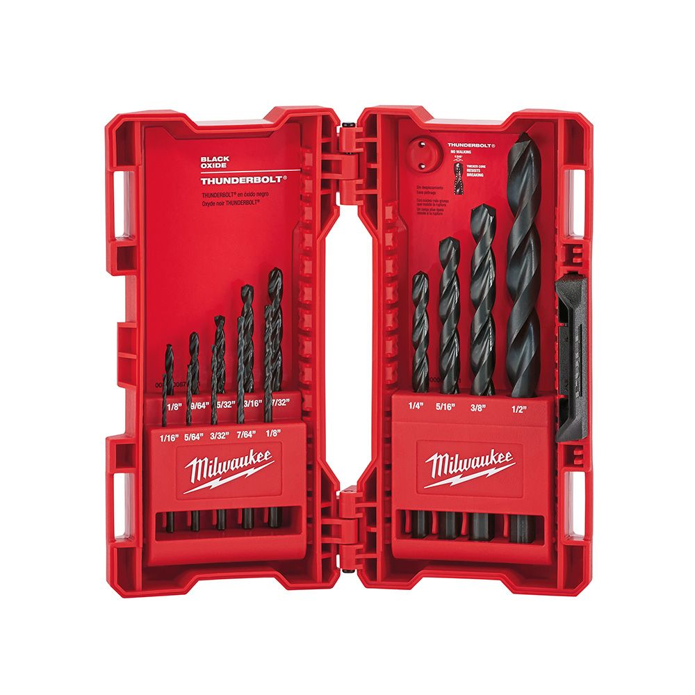 Milwaukee Tool Black Oxide Thunderbolt 135 Split Point Kit (14-Piece)