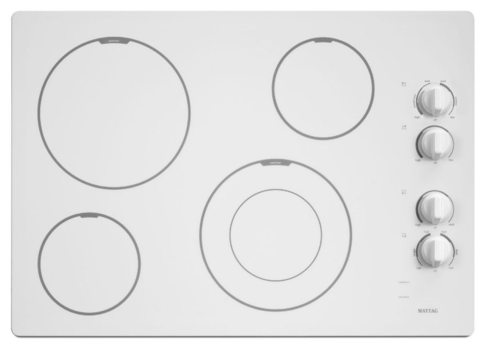31-inch Electric Cooktop with Speed Heat� Element in White