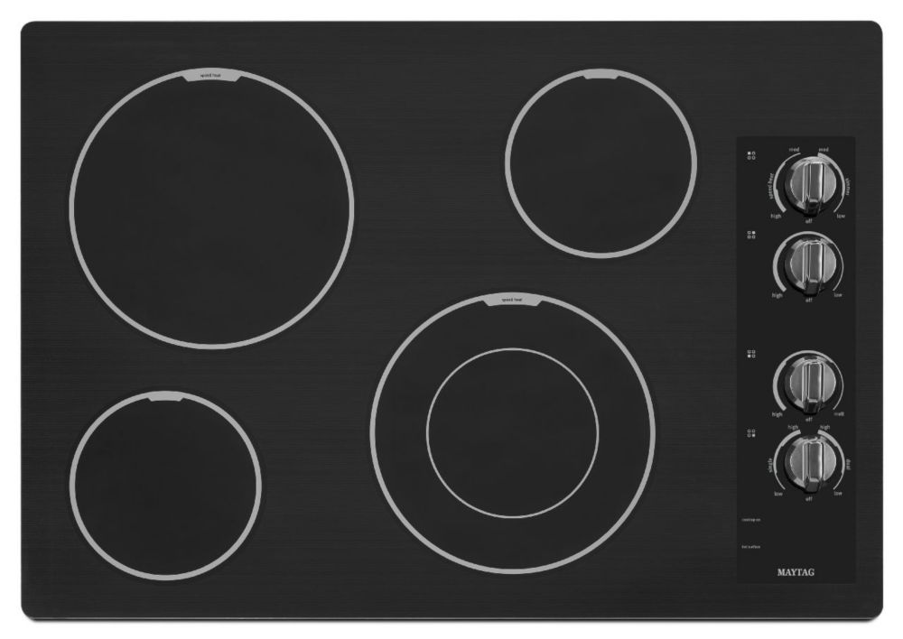 31-inch Electric Cooktop with Speed Heat� Element in Black