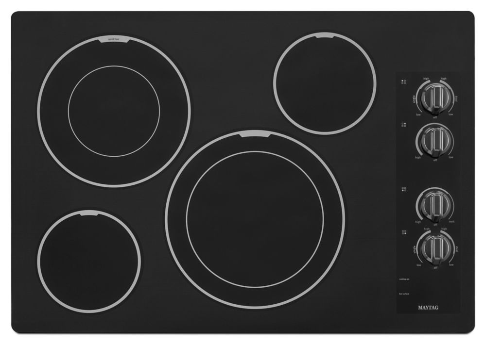 31-inch Electric Cooktop with Two Dual-Choice� Elements in Black