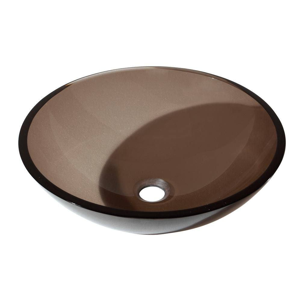 Tempered Glass Vessel in Brown