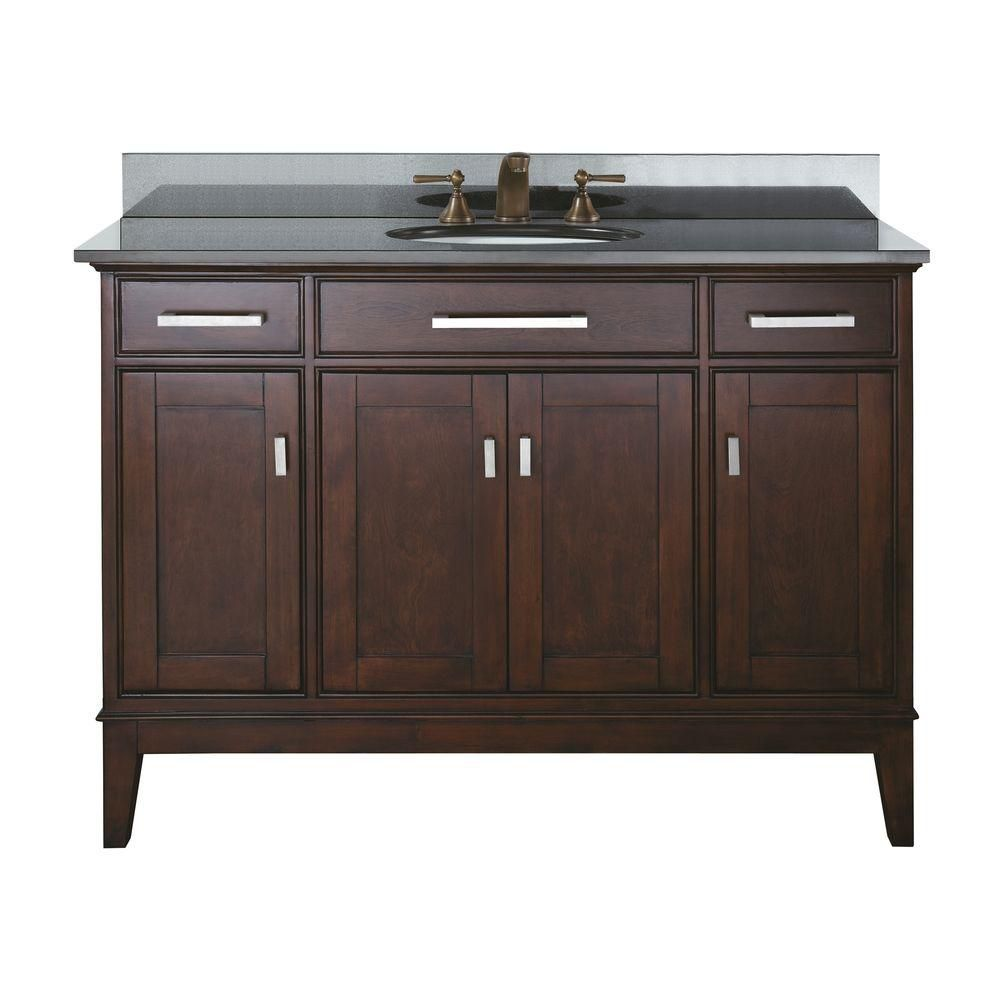 Fresca Oxford 48 Inch W Vanity In Espresso Finish With Mirror The Home Depot Canada