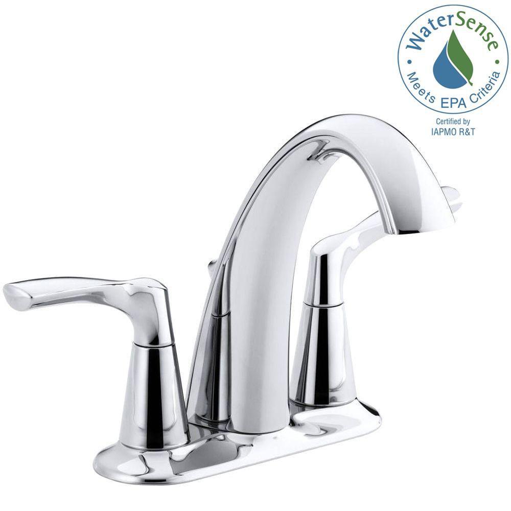 image for KOHLER Mistos 4 in. Centerset 2-Handle Bathroom Faucet ...