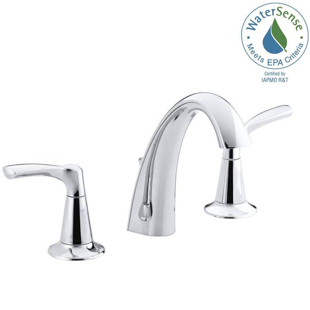 Mistos Widespread Bathroom Faucet in Chrome Finish