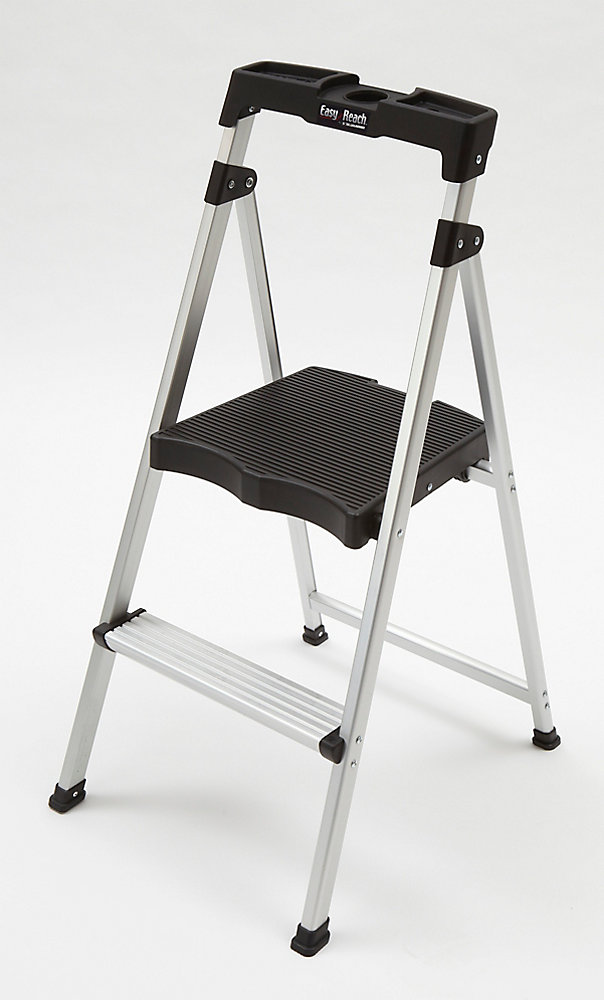 2-Step Aluminum Ultra-Light Step Stool Ladder with Project Top 225 lb. Capacity