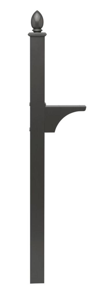Piédestal Decorative noir à montage latéral et installation enterrée