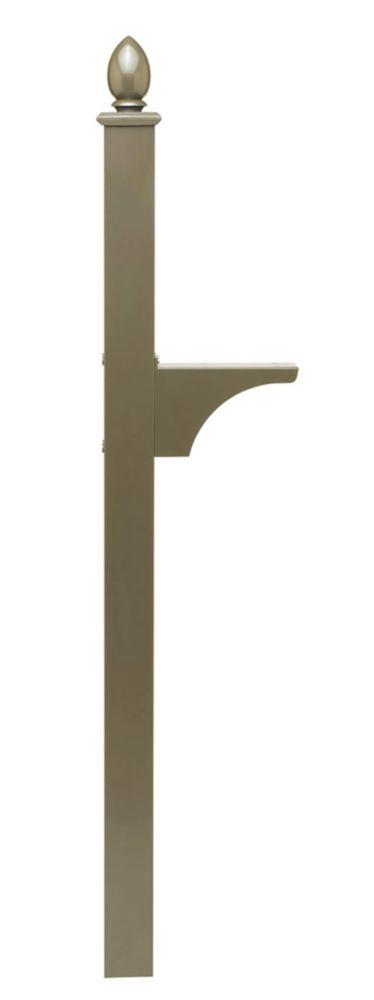 Piédestal Decorative bronze à montage latéral et installation enterrée