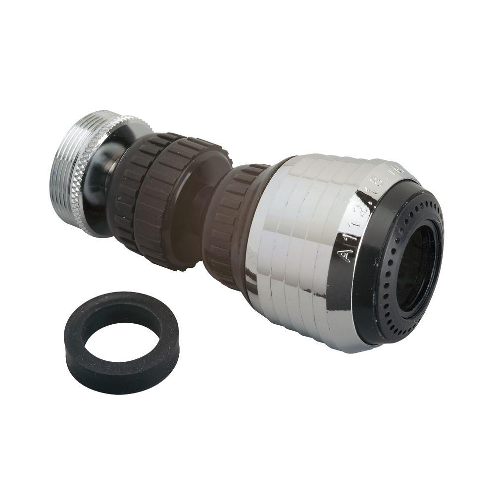 Aérateur à double pivot à 360 - Noir 5,7 LPM