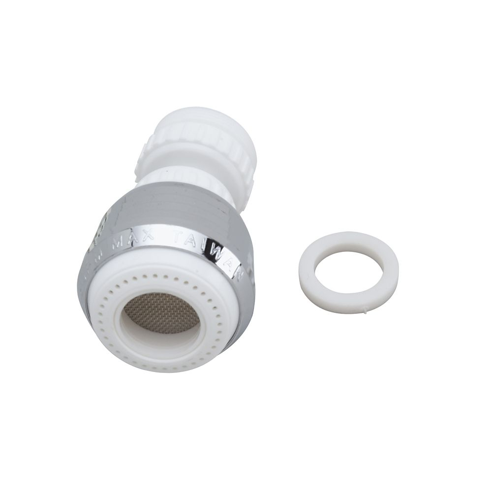 Aérateur pivotant universel - Blanc 5,7 LPM