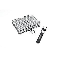 Deluxe BBQ Broiler Basket With Detachable Handle