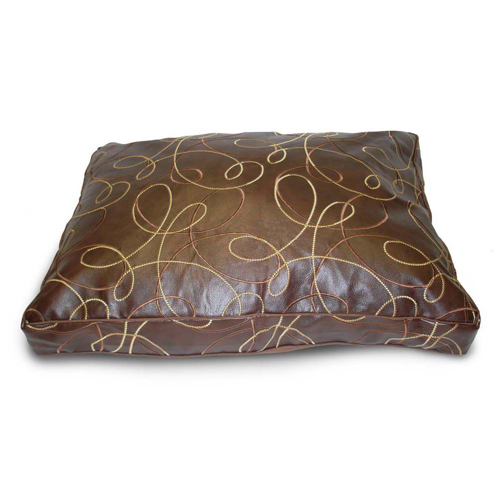 Leather Swirl Chocolate Pet Bed