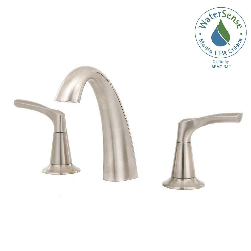 Kohler mistos 8 inch bathroom faucet in brushed nickel for 8 bathroom faucet in brushed nickel