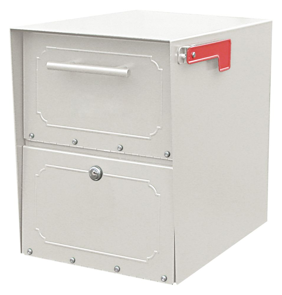Architectural Mailboxes Pearl Gray Oasis Jr Locking Post