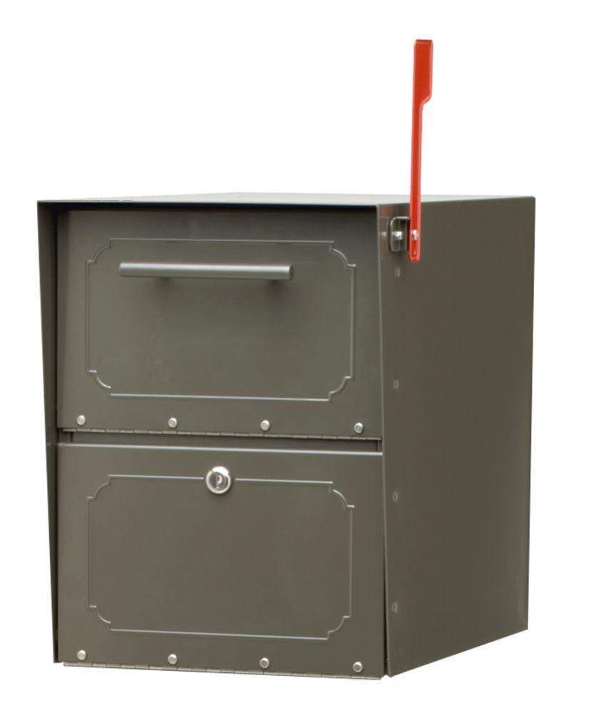 Boîte aux lettres verrouillable Oasis Jr. bronze à montage sur piédestal