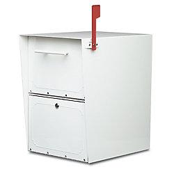 Architectural Mailboxes White Oasis Locking Post Mount Mailbox