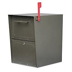 Architectural Mailboxes Boîte aux lettres verrouillable Oasis bronze à montage sur piédestal