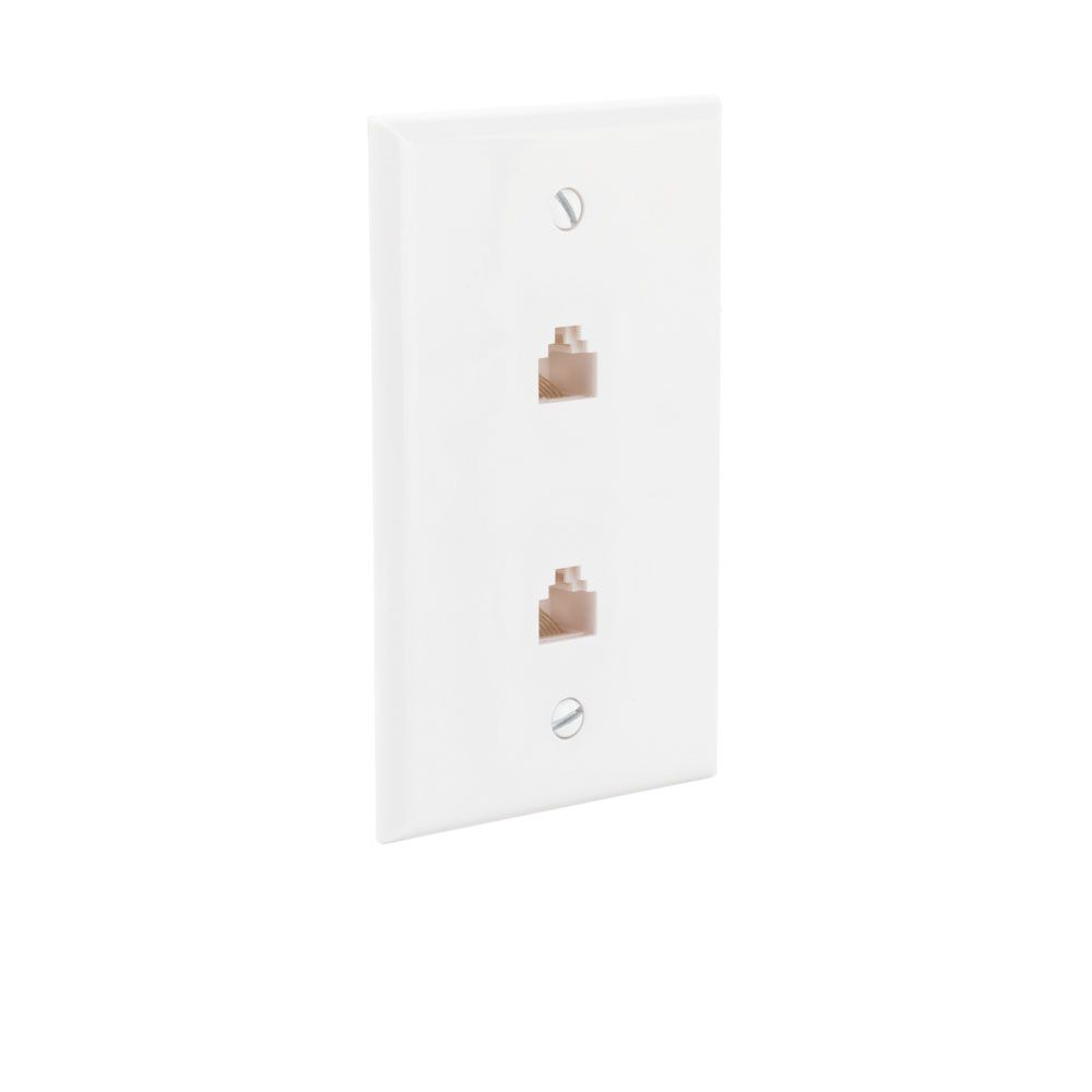 ce tech dual ethernet wall plate the home depot canada. Black Bedroom Furniture Sets. Home Design Ideas