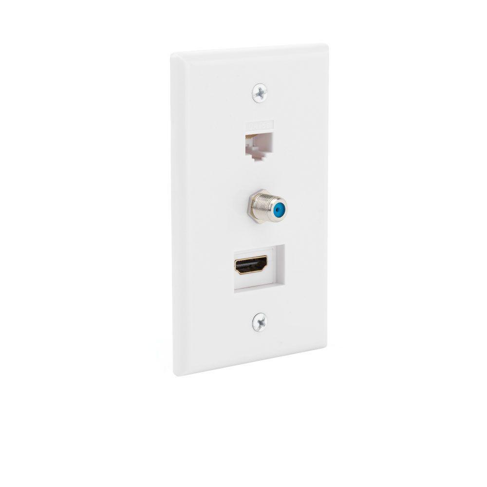 Wall plates the home depot canada hdmi coax ethernet wall plate sciox Gallery
