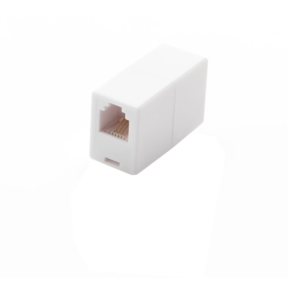 Commercial Electric In-Line Phone Coupler White