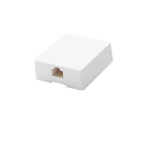 Surface Mount Ethernet Jack, White