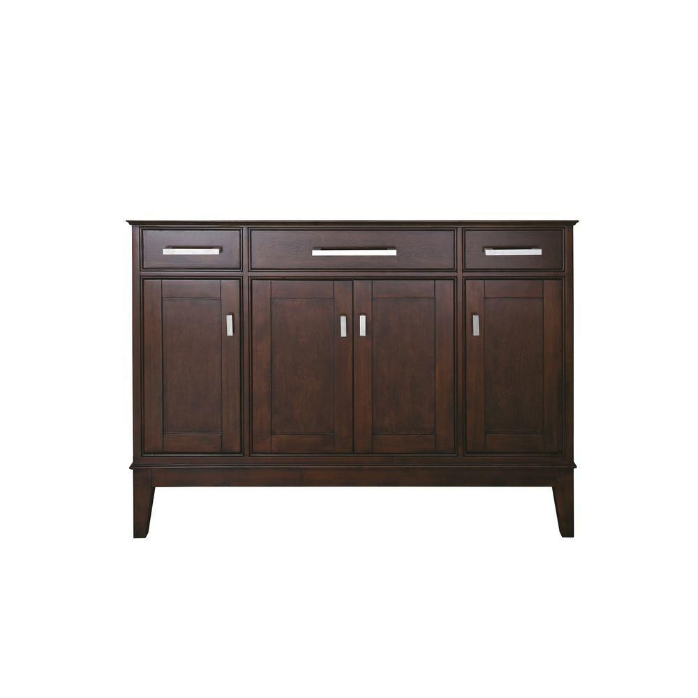 Madison 48 Inch Vanity Only in Light Espresso Finish (Faucet not included) MADISON-V48-LE Canada Discount