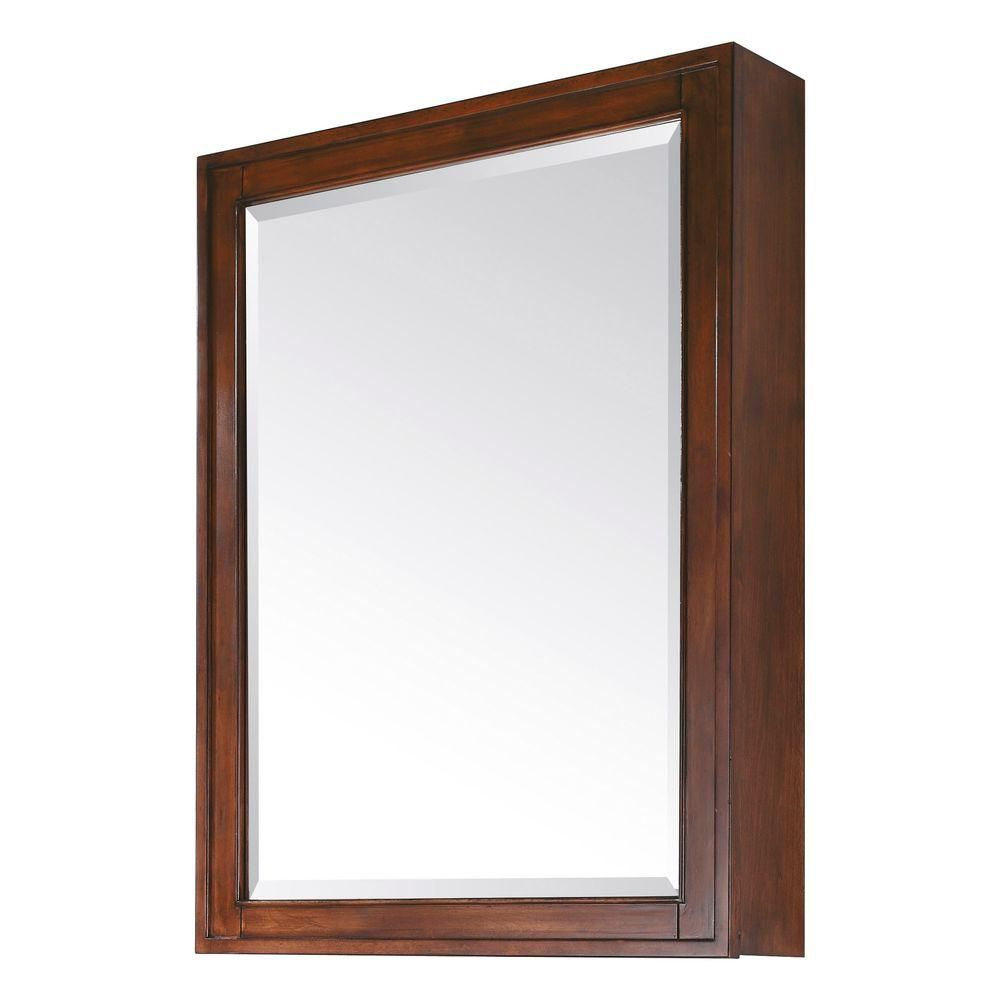 Madison 28 Inch Mirror Cabinet in Tobacco Finish