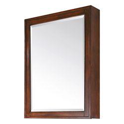 Avanity Madison 28-inch W x 36-inch H Framed Surface-Mount 3-Shelf Bathroom Medicine Cabinet in Tobacco