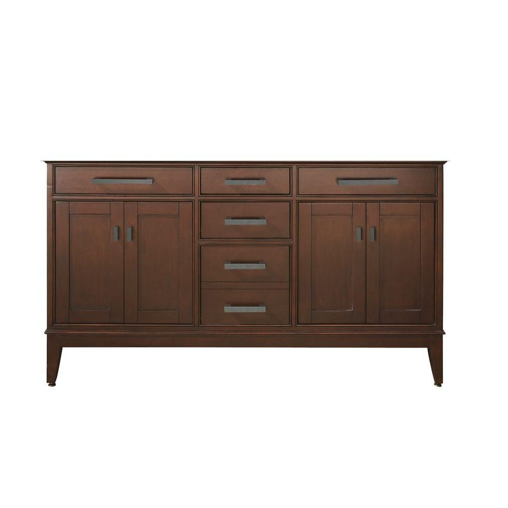 Avanity Madison 60-inch W x 21-inch D x 34-inch H Vanity Cabinet Only in Tobacco