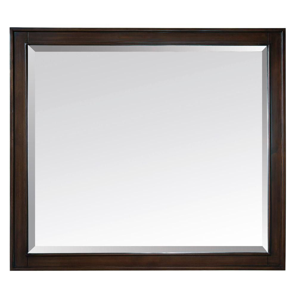 Madison 36 Inch Mirror in Light Espresso Finish MADISON-M36-LE Canada Discount