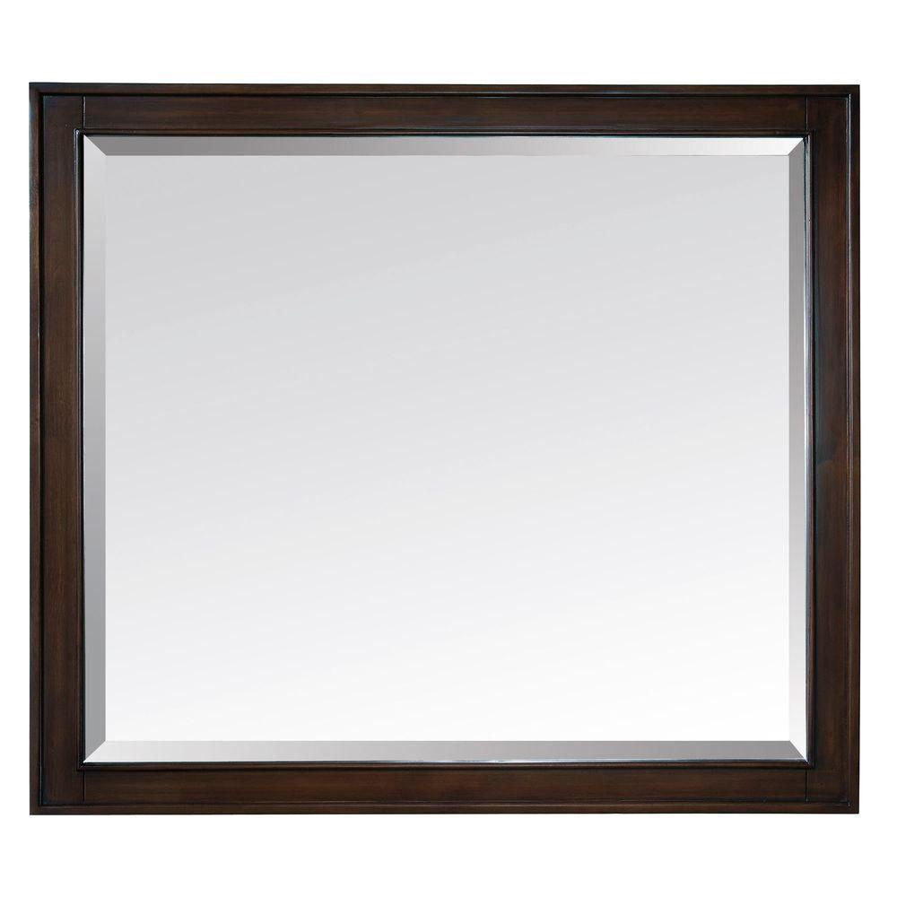 Madison 36 Inch Mirror in Light Espresso Finish