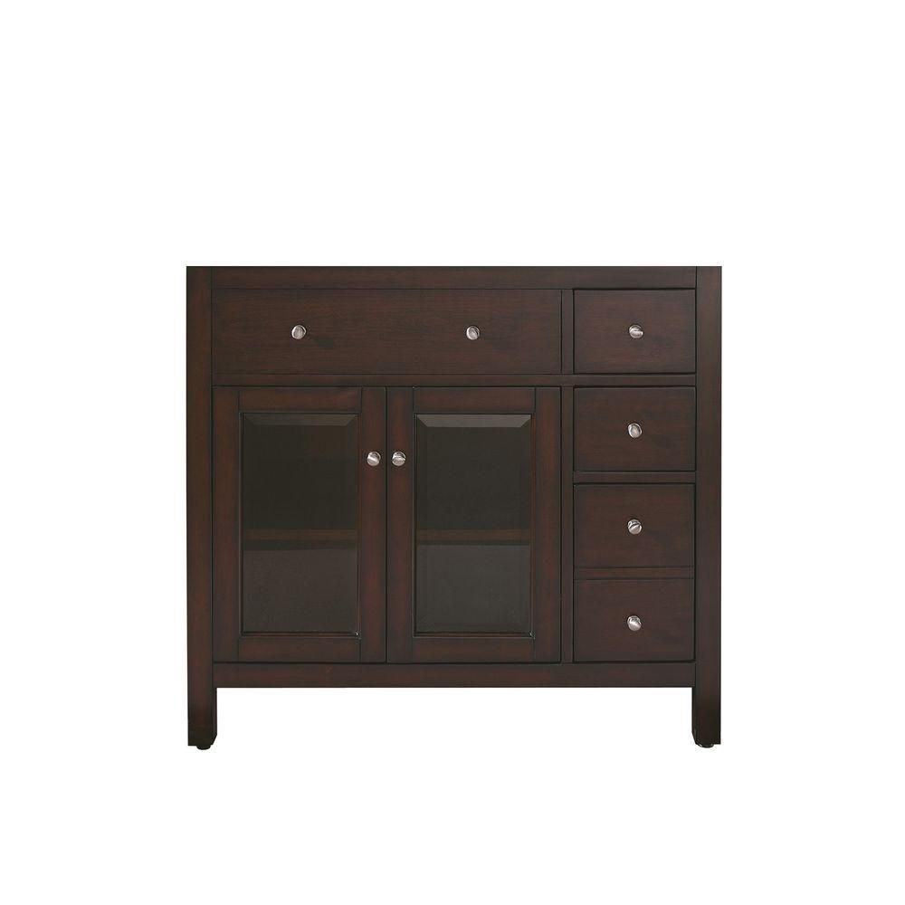 Lexington 36-Inch  Vanity Cabinet in Light Espresso