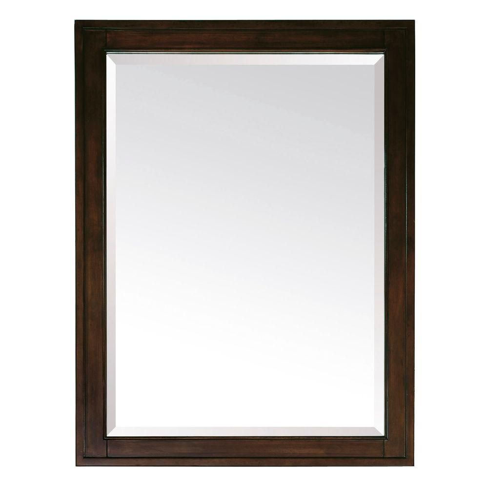 Madison 28 Inch Mirror in Light Espresso Finish