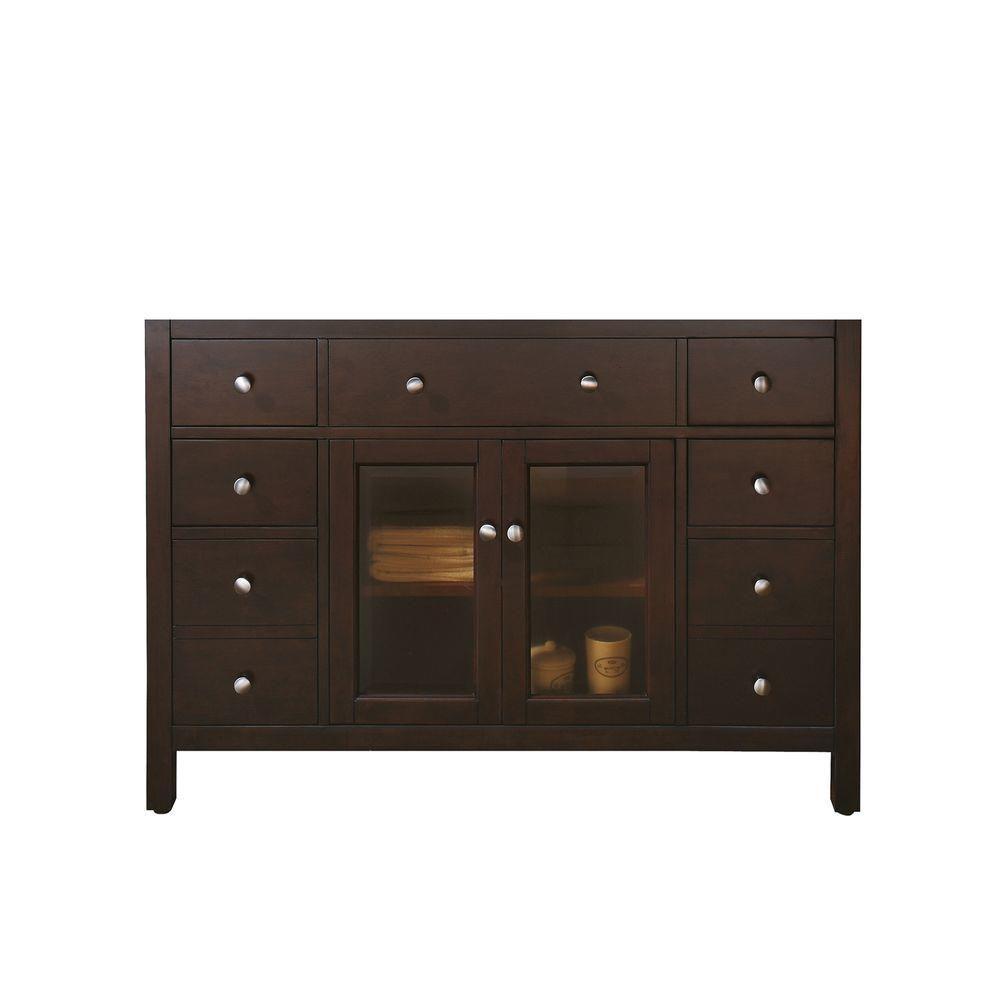 Lexington 48-Inch  Vanity Cabinet in Light Espresso